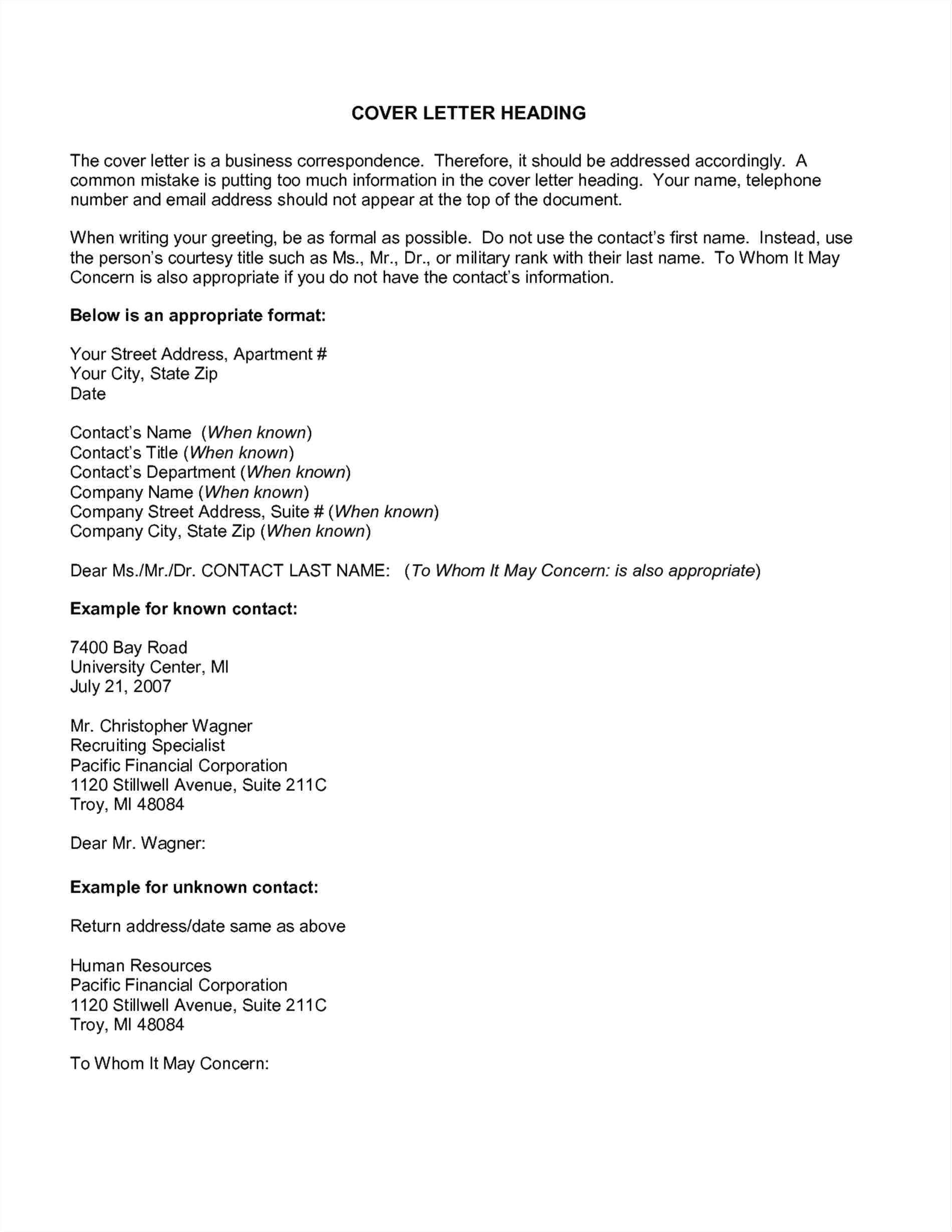 6 7 cover letter no name