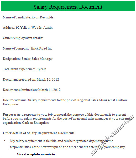 How to Include Salary Requirement In Cover Letter How to Include Salary Requirements In A Cover Letter