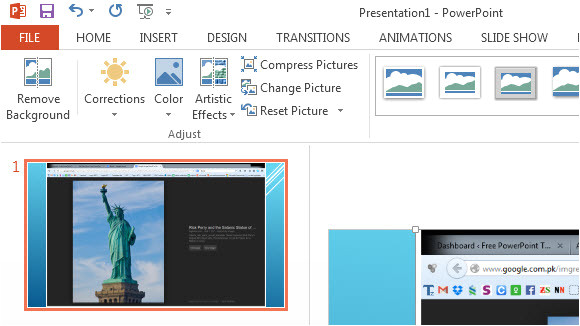 insert screenshots powerpoint 2013