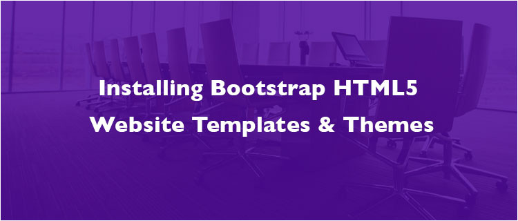 install bootstrap html5 website templates