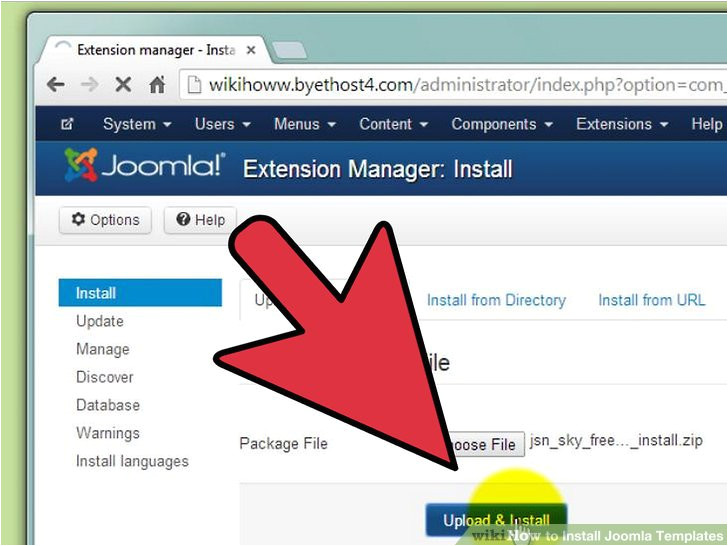 How to Install Template In Joomla How to Install Joomla Templates 7 Steps with Pictures