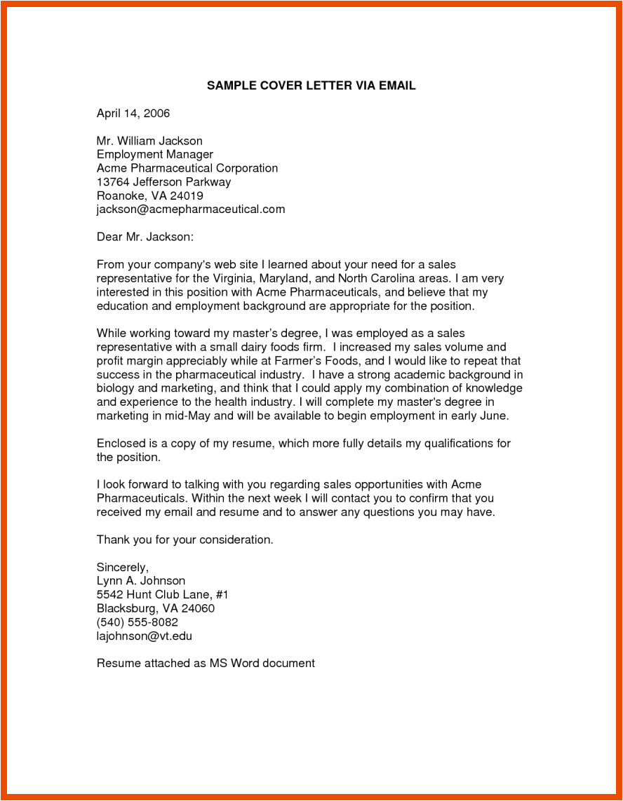 How to Mail A Resume and Cover Letter 4 5 How to Write A Cover Letter Email sopexample