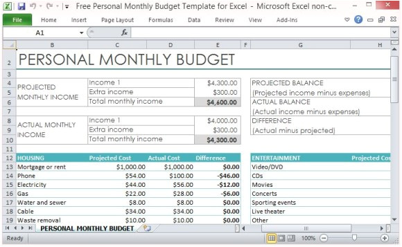 How to Make A Budget Plan Template Free Personal Monthly Budget Template for Excel