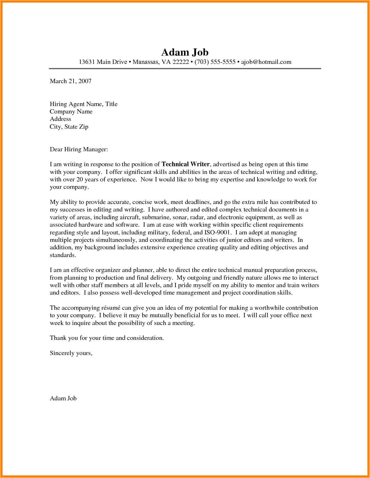 5 how to type a cover letter
