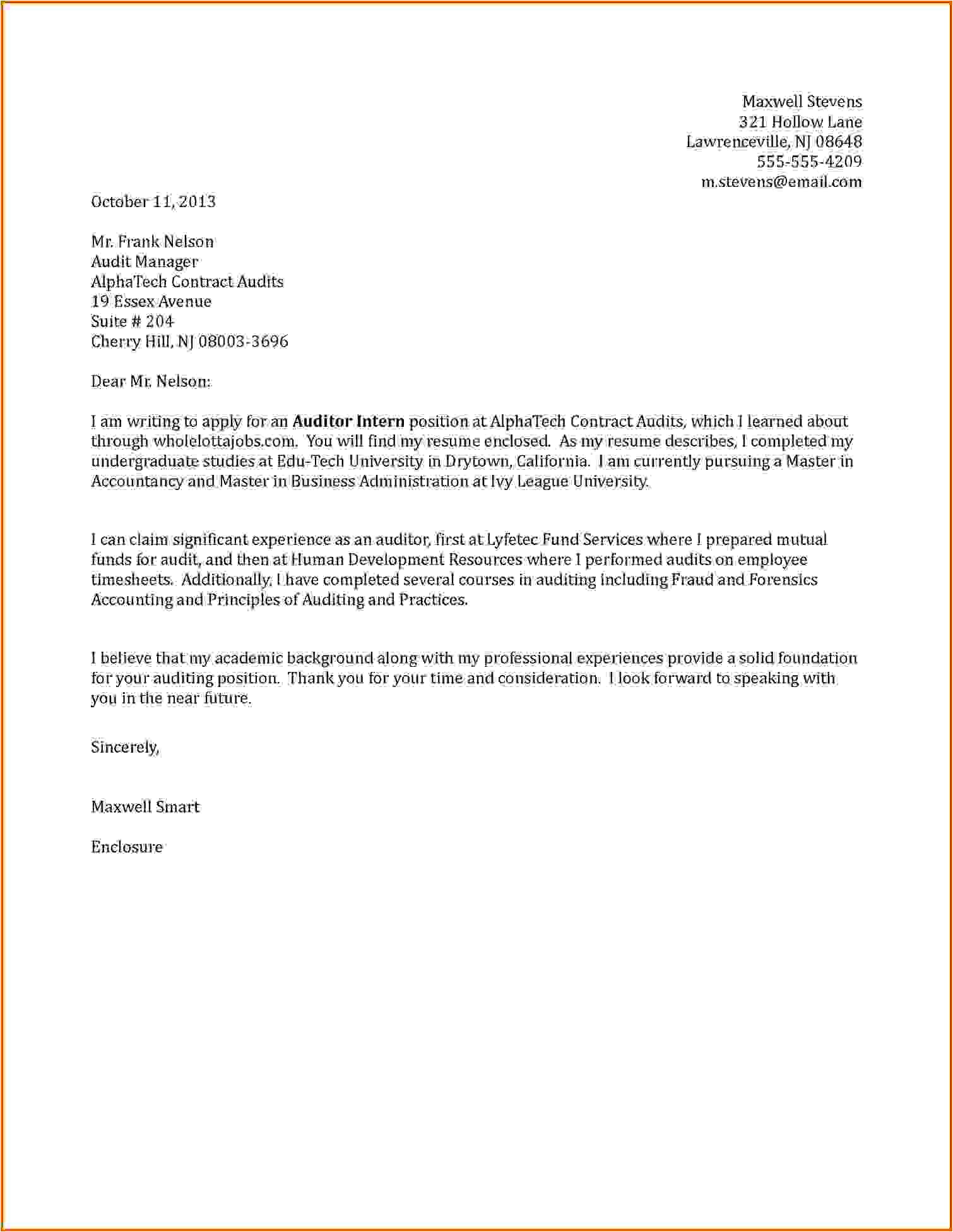 5 how to write cover letter for internship
