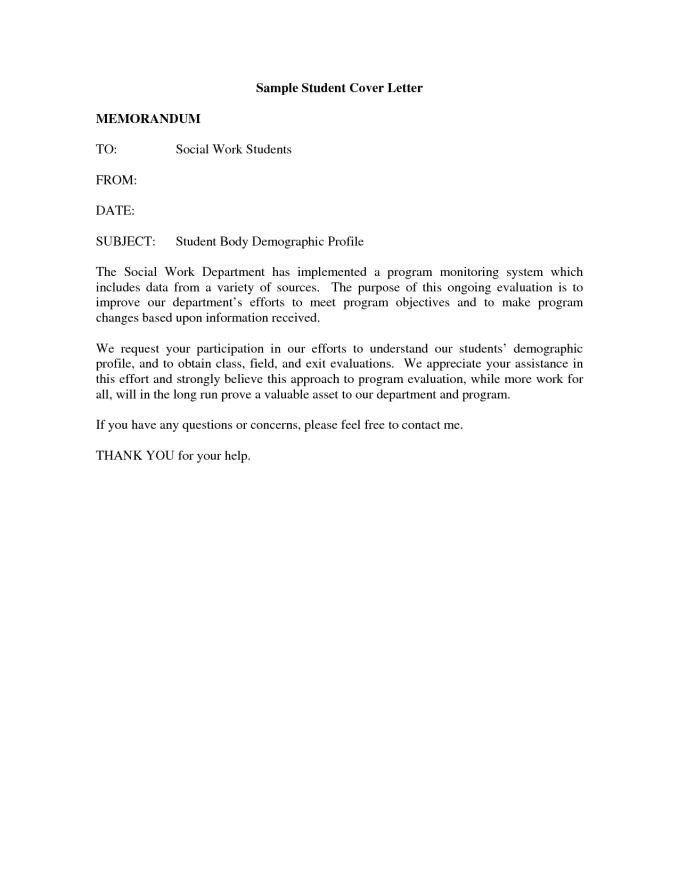 How to Make A Cover Letter for Students Student Cover Letter Sample Resume Badak