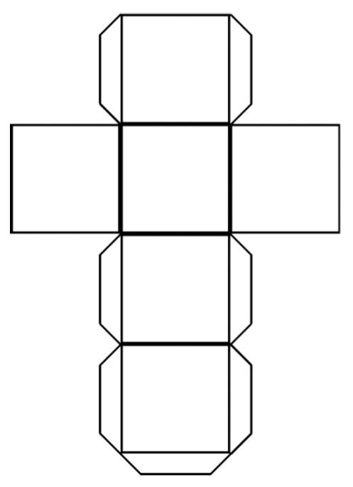 diy paper cube calendar