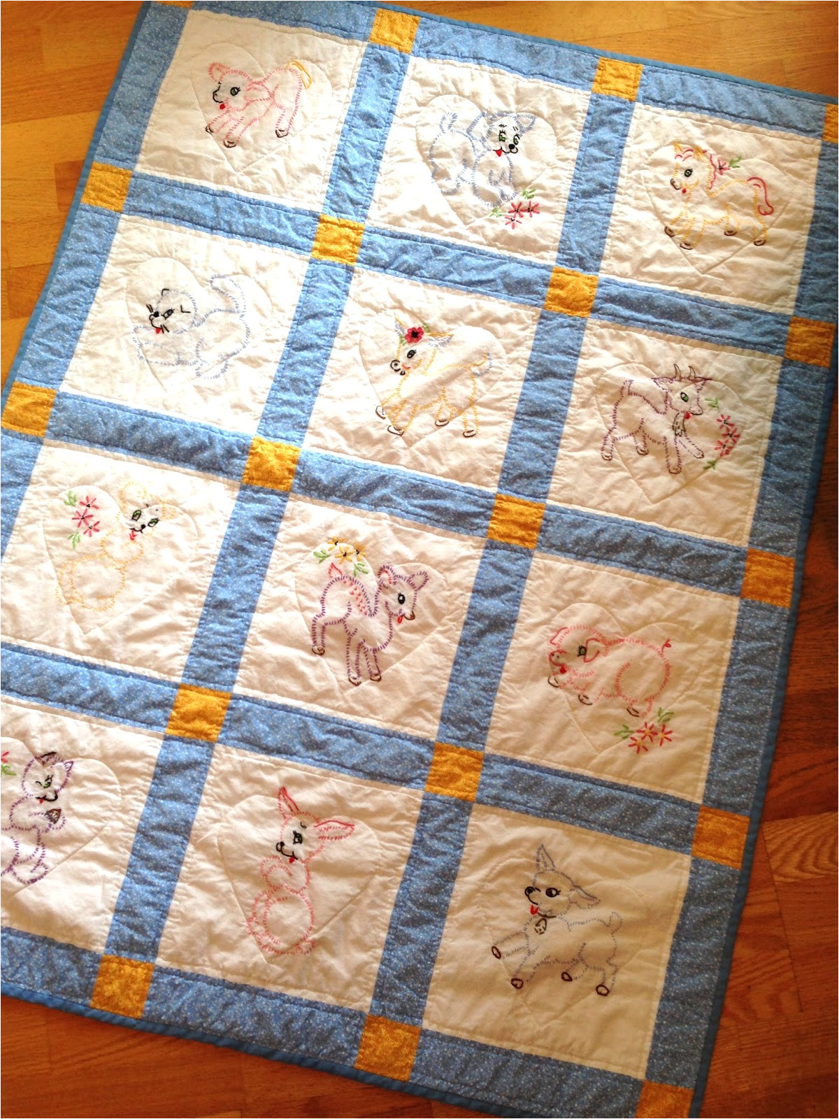 how to make group baby quilt