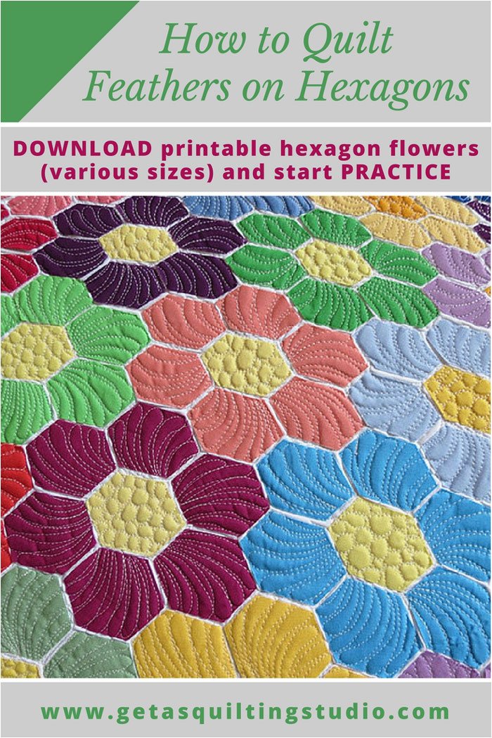how to quilt hexagons