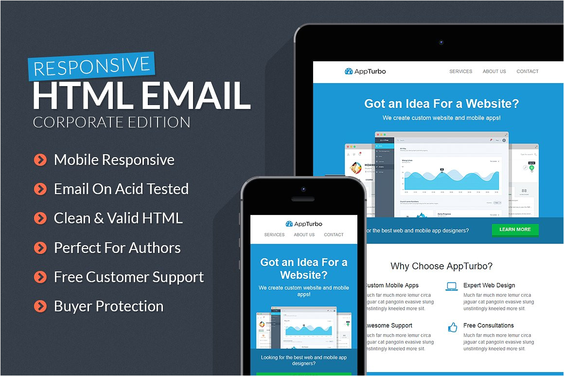 219180 appturbo html email template