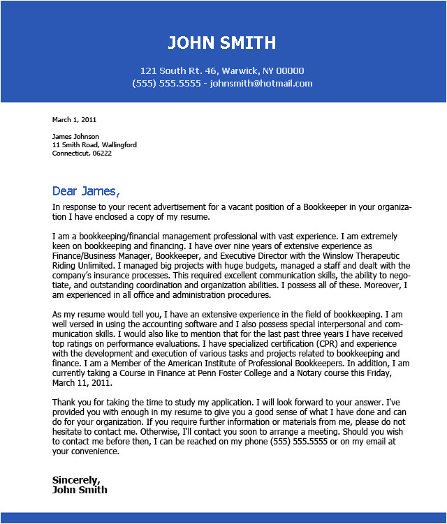 impressive cover letter examples