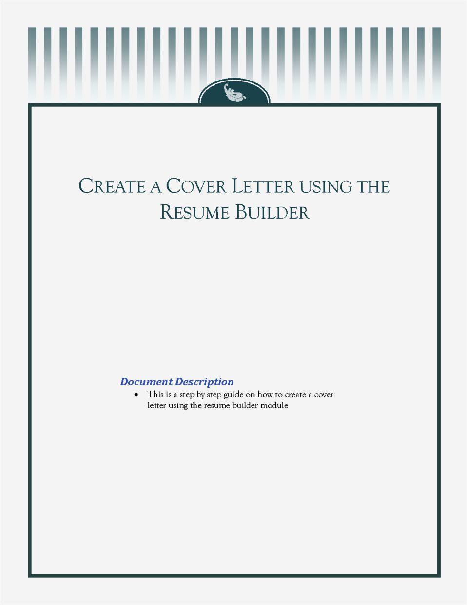 creating a resume cover page