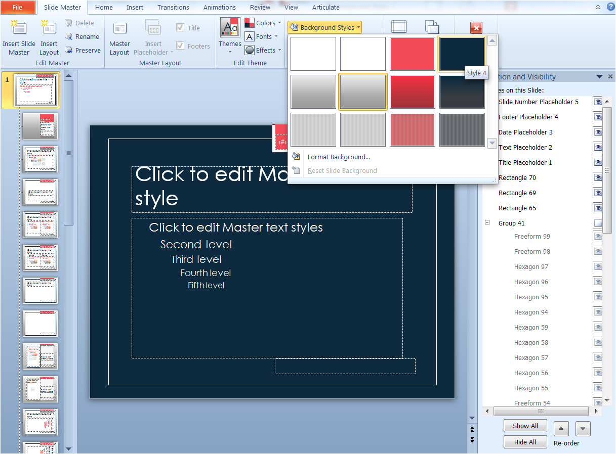 making built in powerpoint templates your own