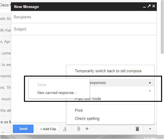 gmail email templates