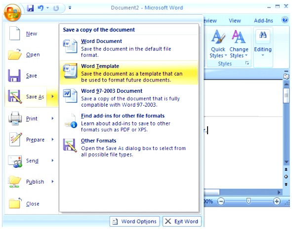 how to open templates in word 2007