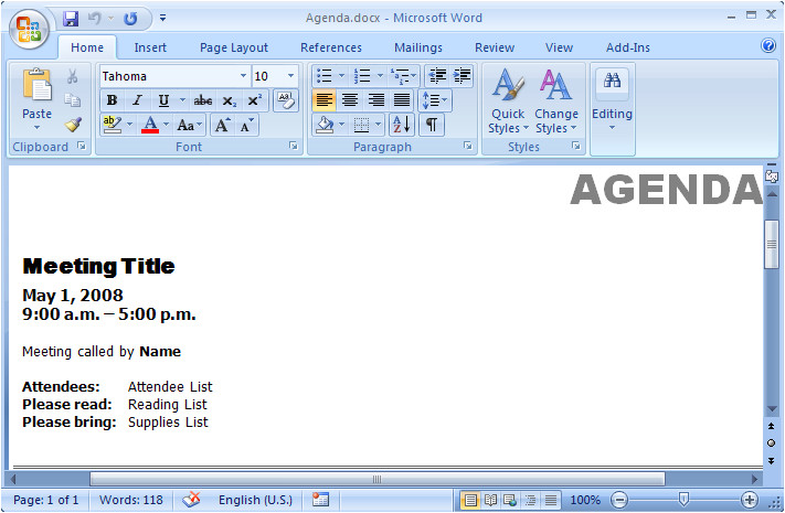 how to open templates in microsoft word 2007