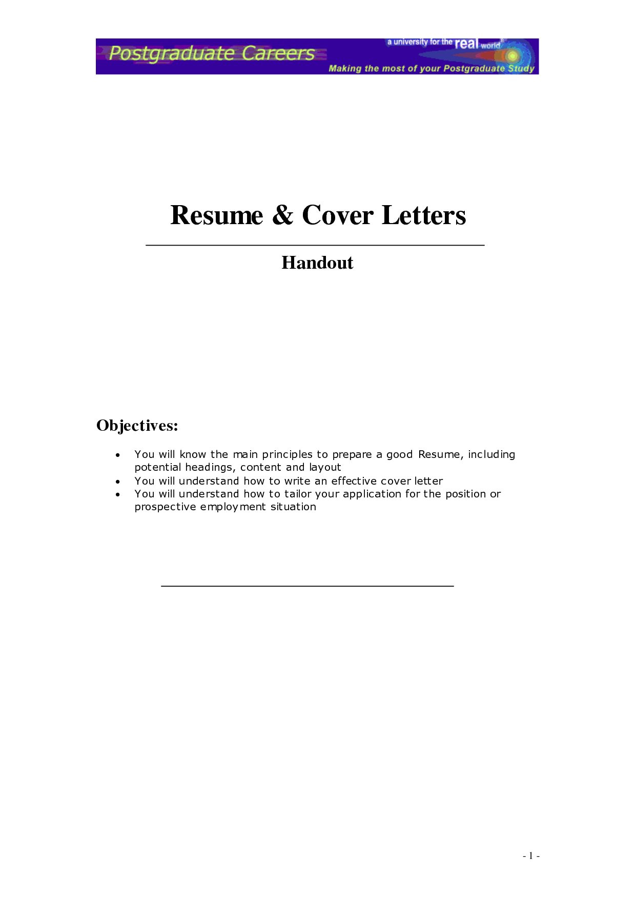 help writing a good cover letter