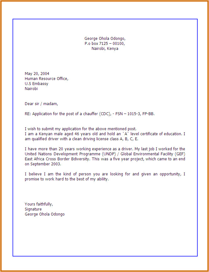 How to Prepare Cover Letter for Job Application 7 How Write Application Lease Template