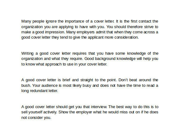 sample how to write a cover letter