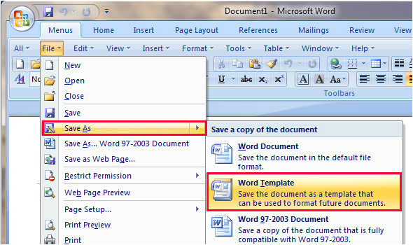 How to Save A Template In Word Windows Xp Templates