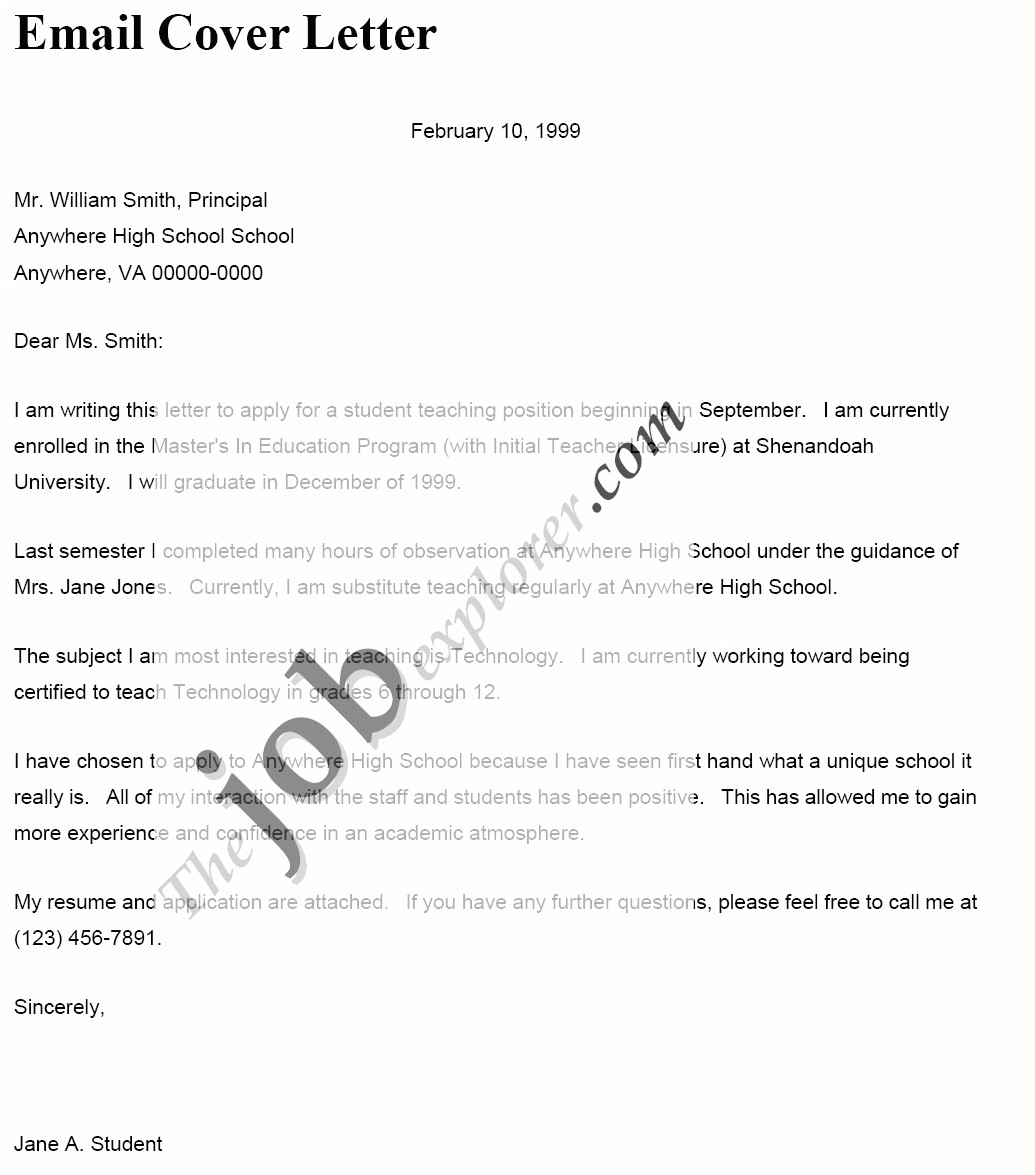 How to Send A Cover Letter In Email Cover Letter Email Sample Template Learnhowtoloseweight Net
