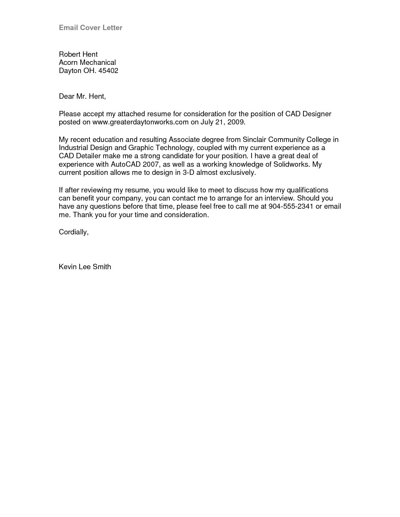 How to Send An Email Cover Letter Cover Letter format Email Best Template Collection