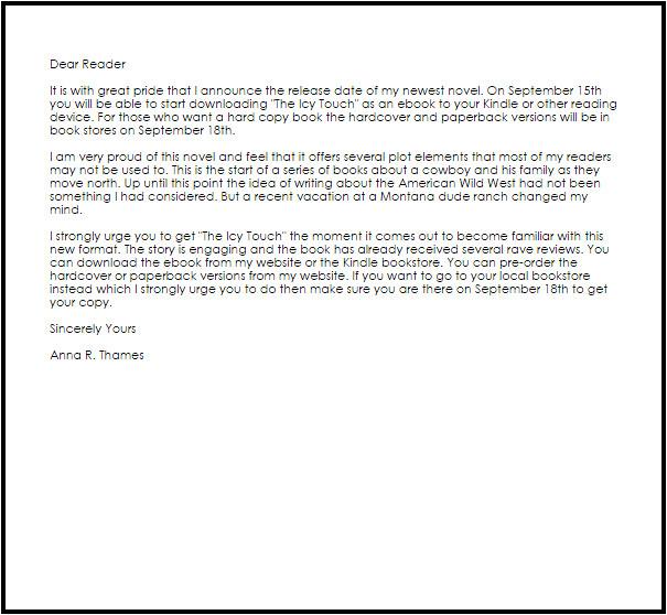dear reader letter format