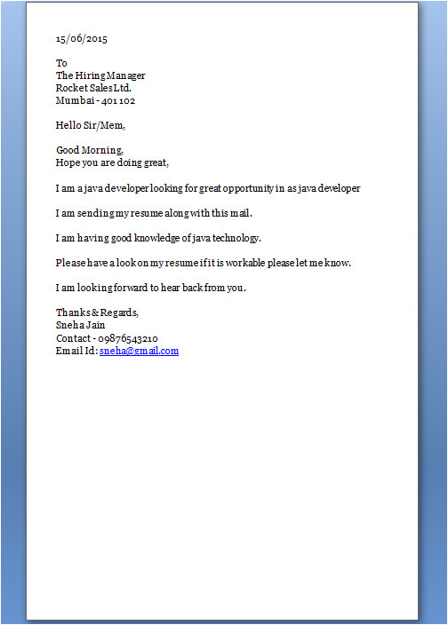 how to start cover letter
