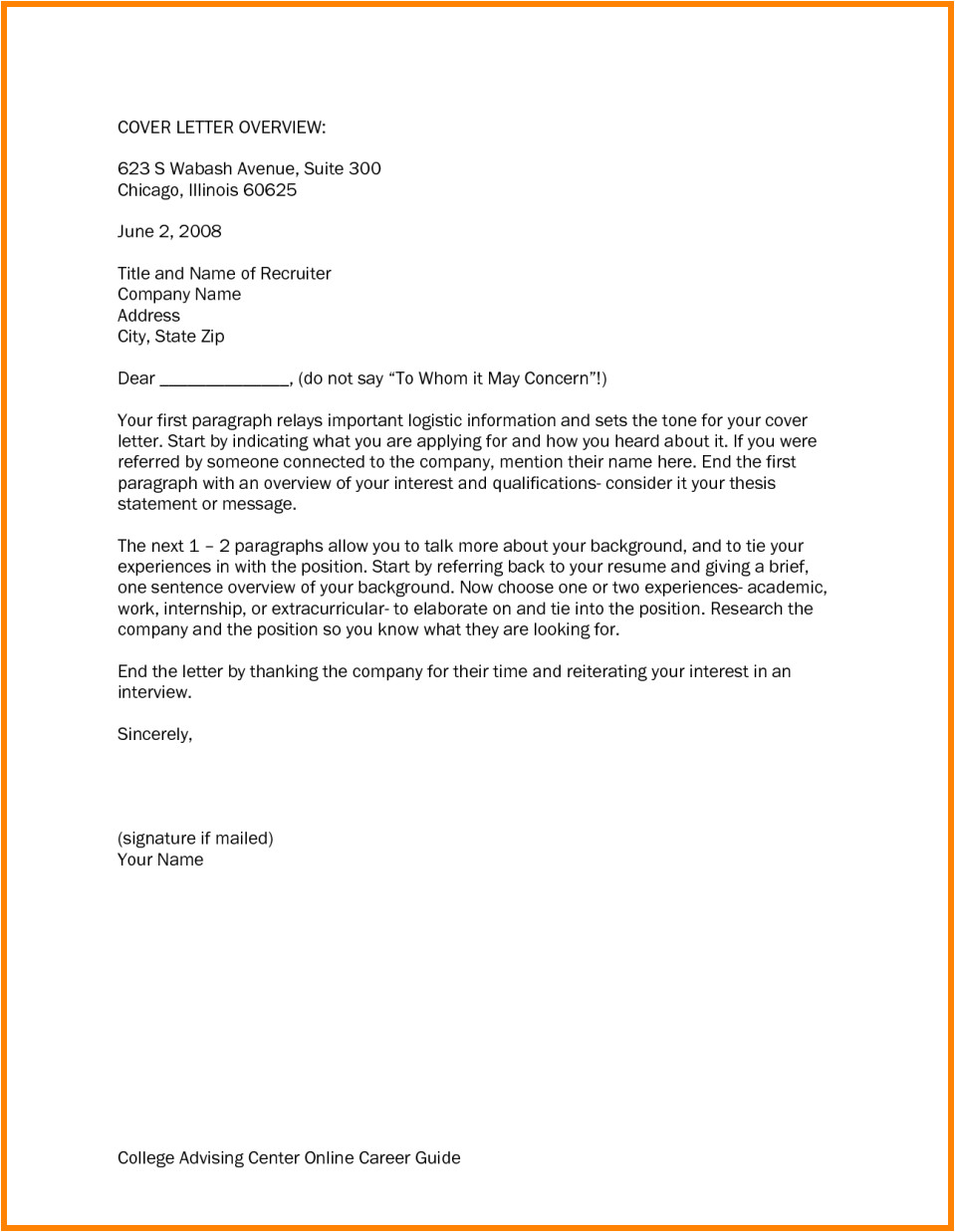 4 strong cover letter opening statements