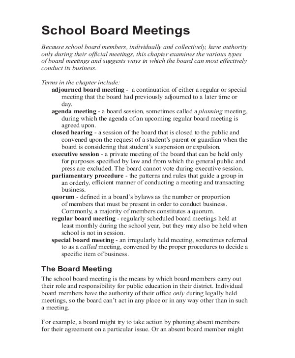 How to Take Minutes at A Board Meeting Template 14 Taking Minutes Template Free Sample Example format