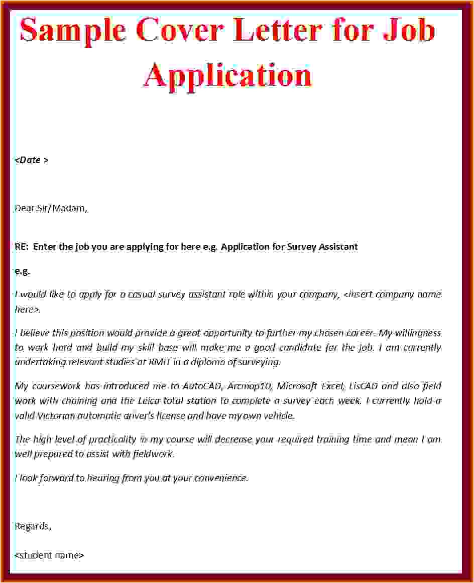 How to Type A Cover Letter for A Job Application Cover Letter Sample 2016reference Letters Words