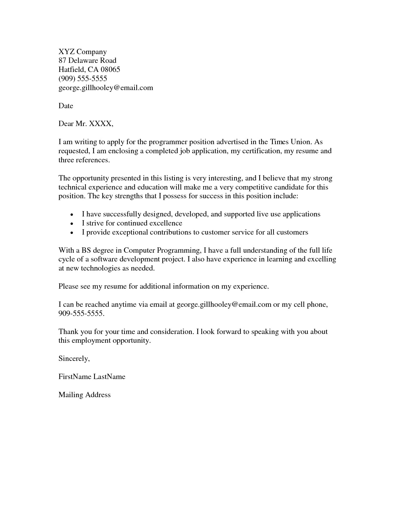 How to Type A Cover Letter for A Job Application Job Application Cover Letter Example Resumes Job