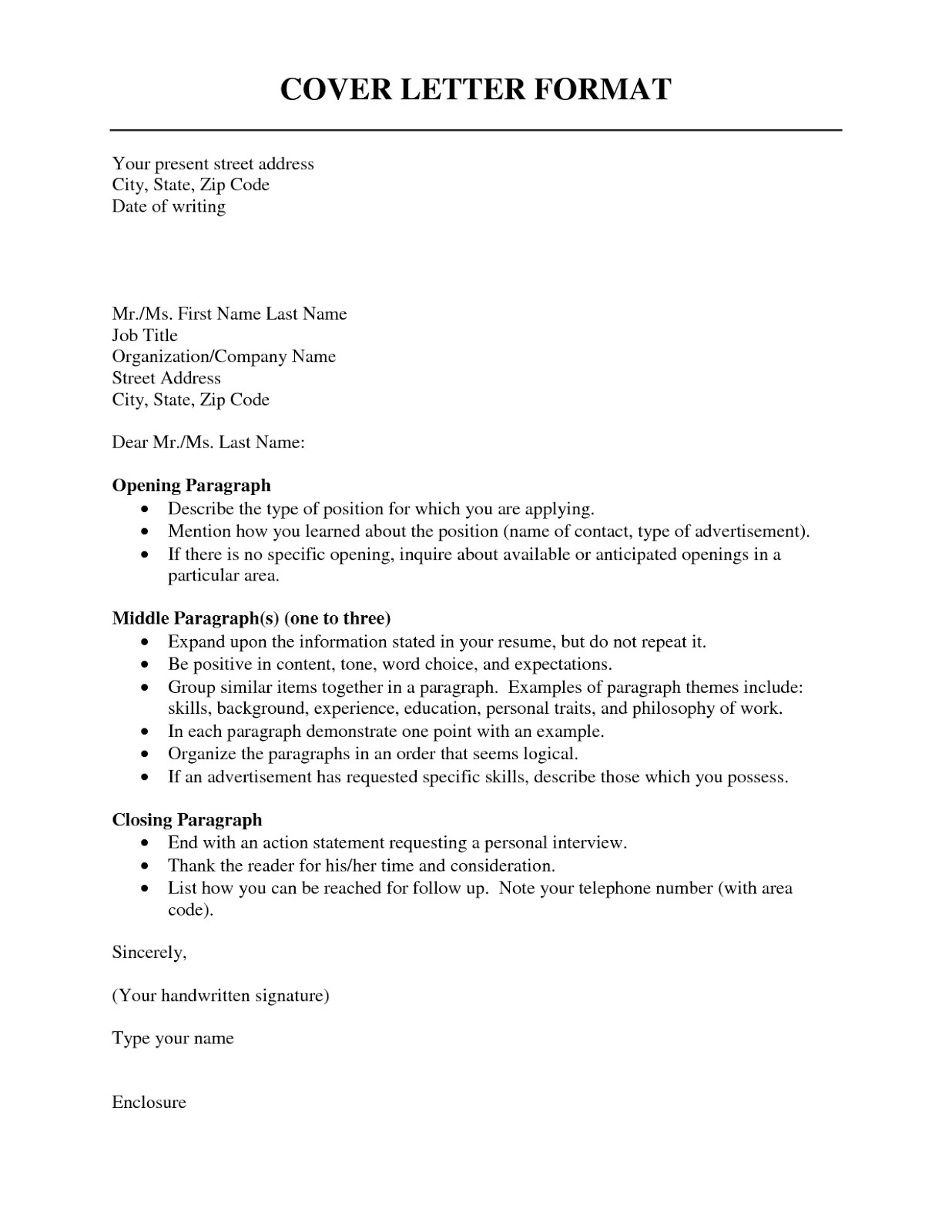 cover letter format 2