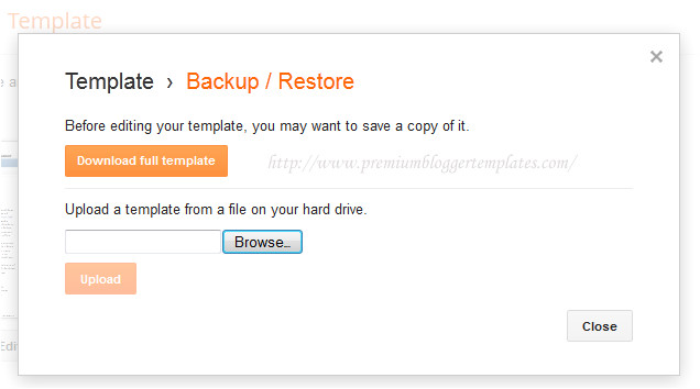 how to uploadinstall blogger template