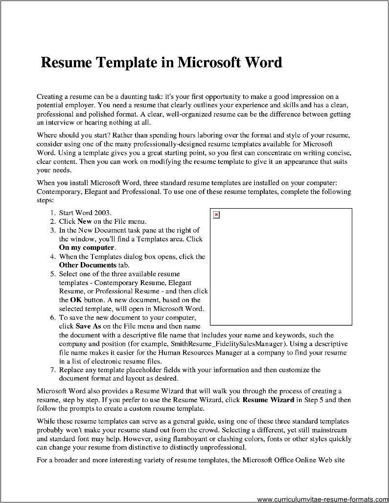 How to Use A Resume Template In Word 2010 Professional Resume Template Microsoft Word 2007 Free