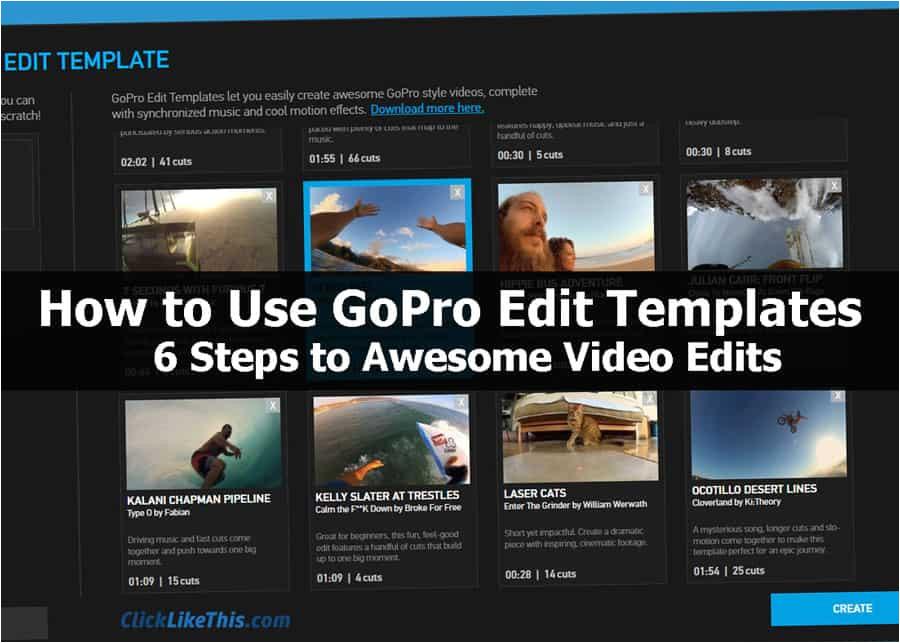 gopro edit templates