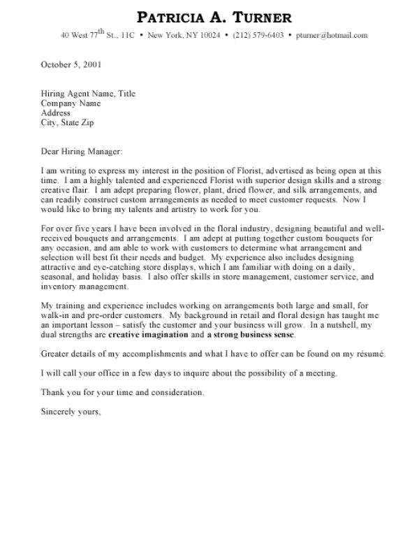How to Write A Cover Letter for A Company Writing A Cover Letter Business Covering Letter Example