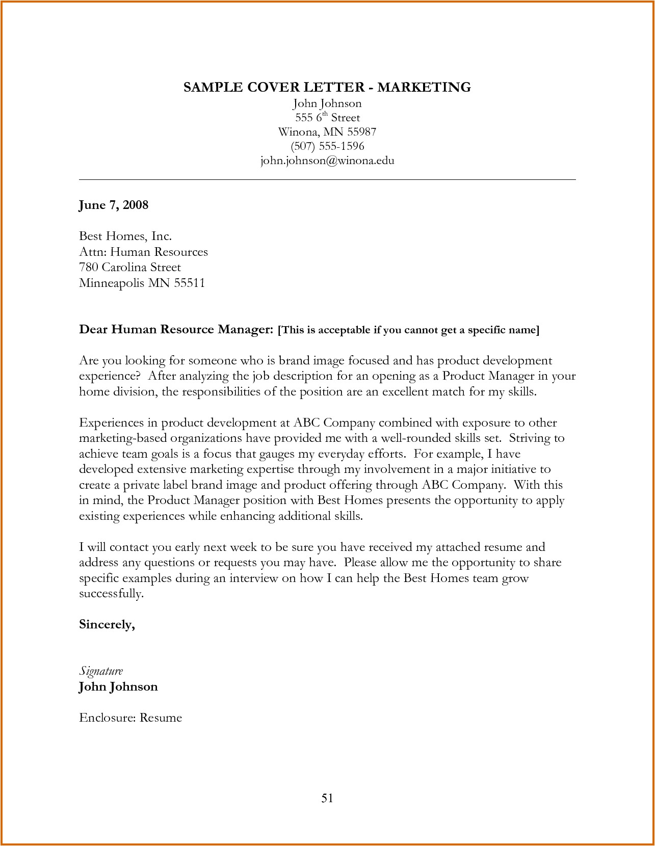 10 how to write a marketing cover letter