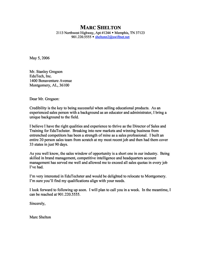 How to Write A Cover Letter for A Sales Position Sales Cover Letter Examples Executive Help now