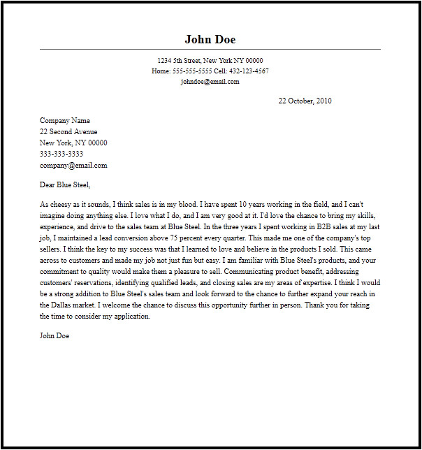 How to Write A Cover Letter for A Sales Position Sample Cover Letter for Sales Representative
