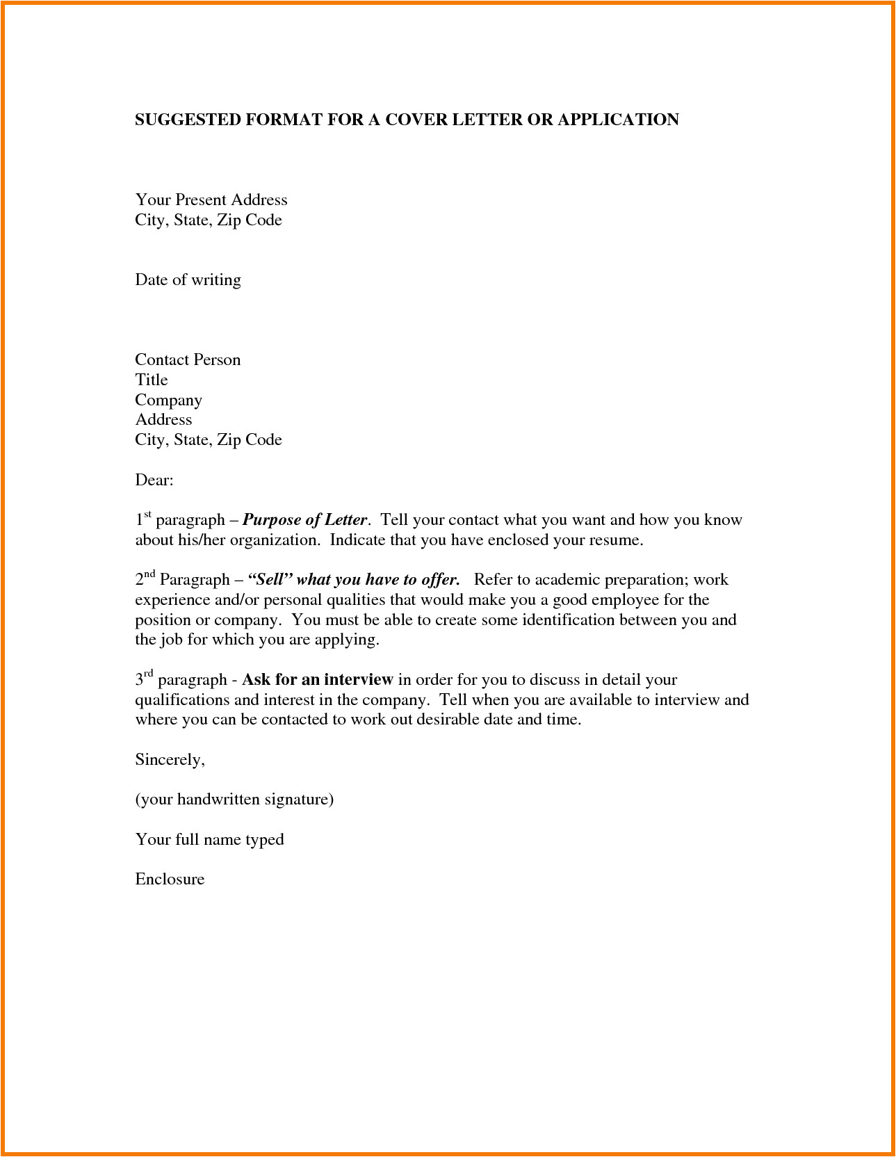 How to Write A Cover Letter for A Specific Job formats Of Application Letter Application Letter