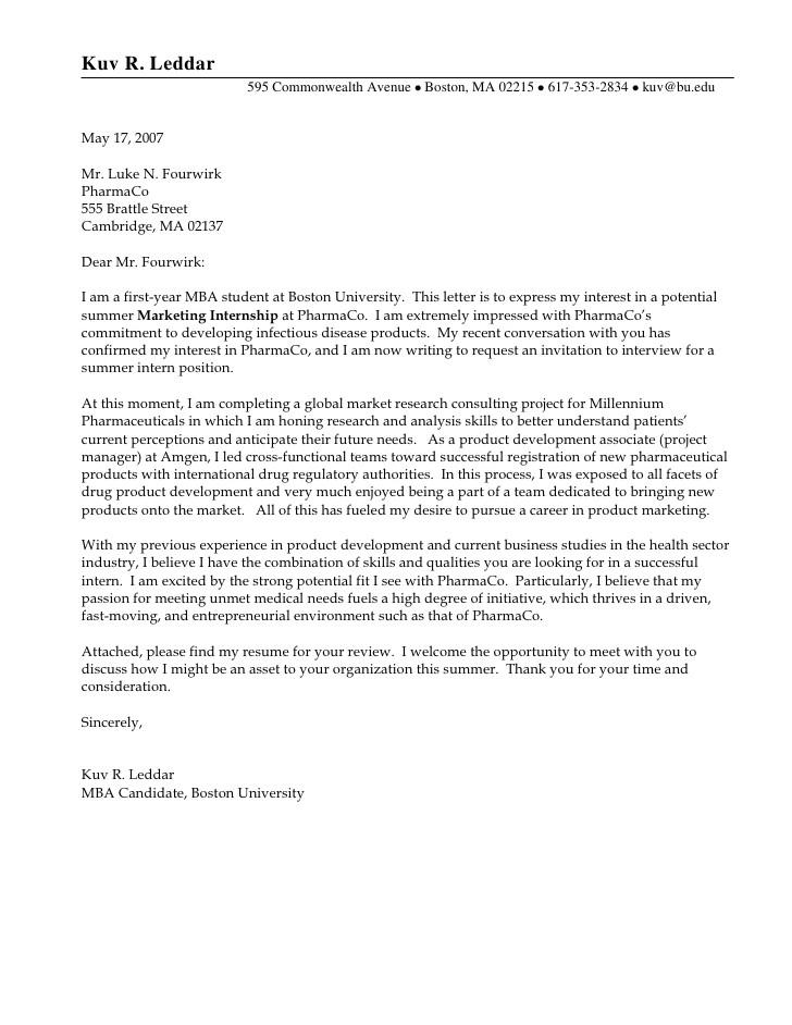 cover letter for internship example good cover letter example kuv r leddar