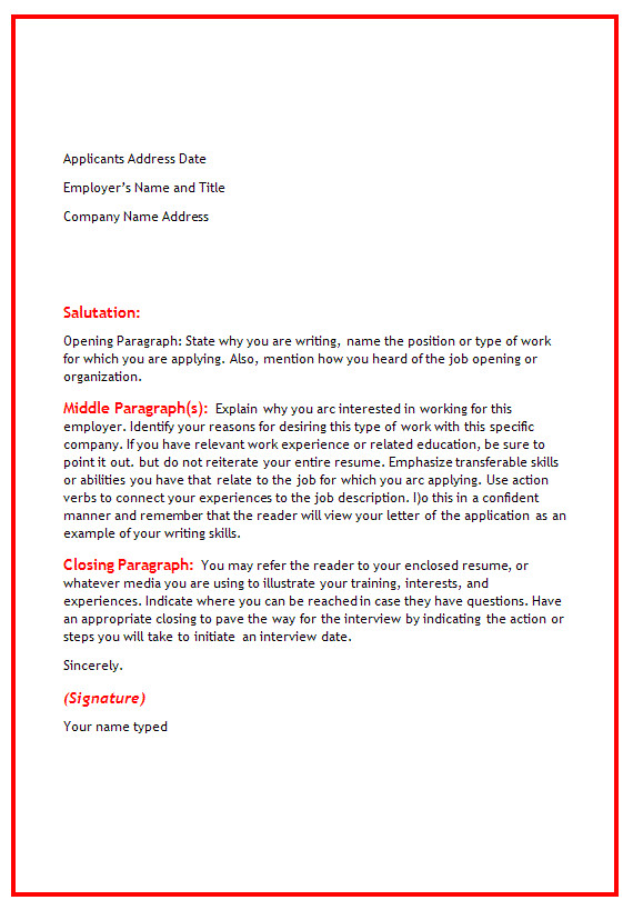 sample cover letters for warehouse positions