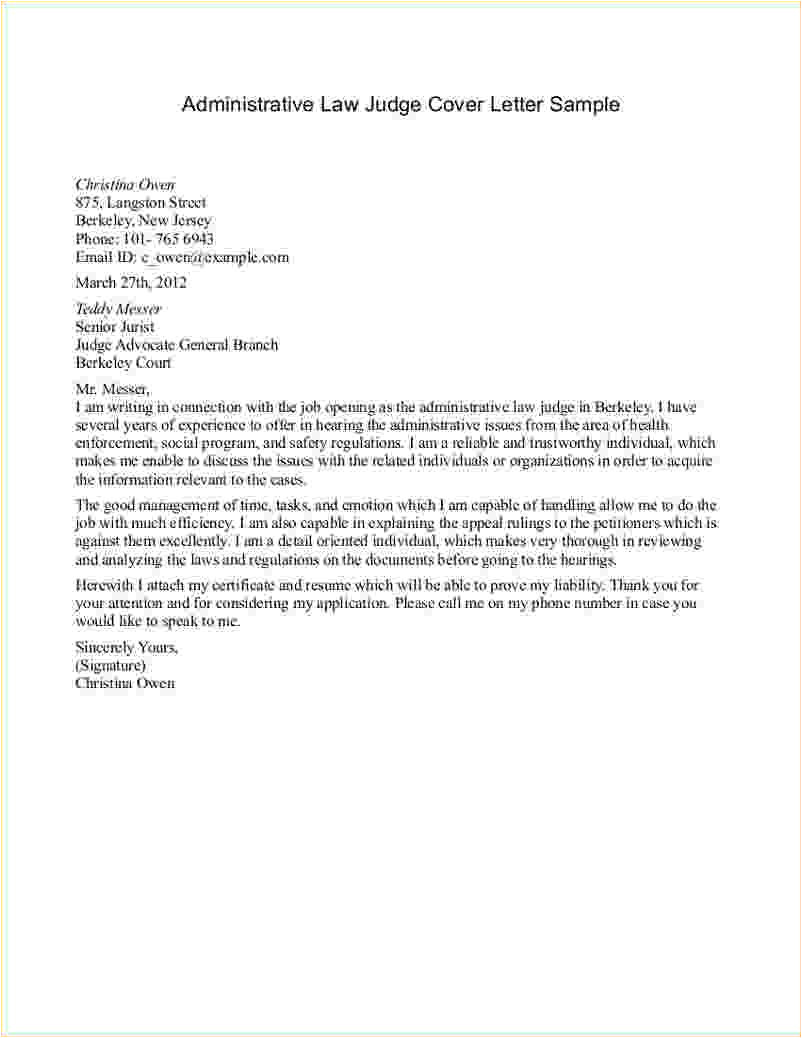 How to Write A Cover Letter for Administration Legal Letter format to Judge theveliger