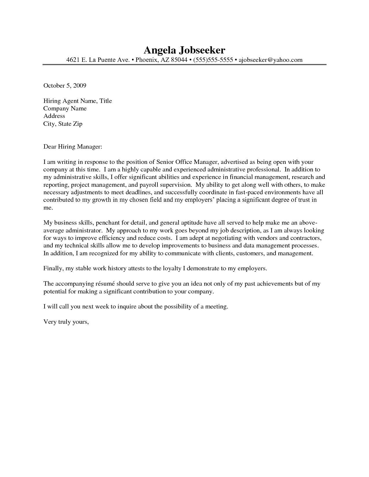 How to Write A Cover Letter for Administrative assistant Position Administrative assistant Resume Cover Letter Http