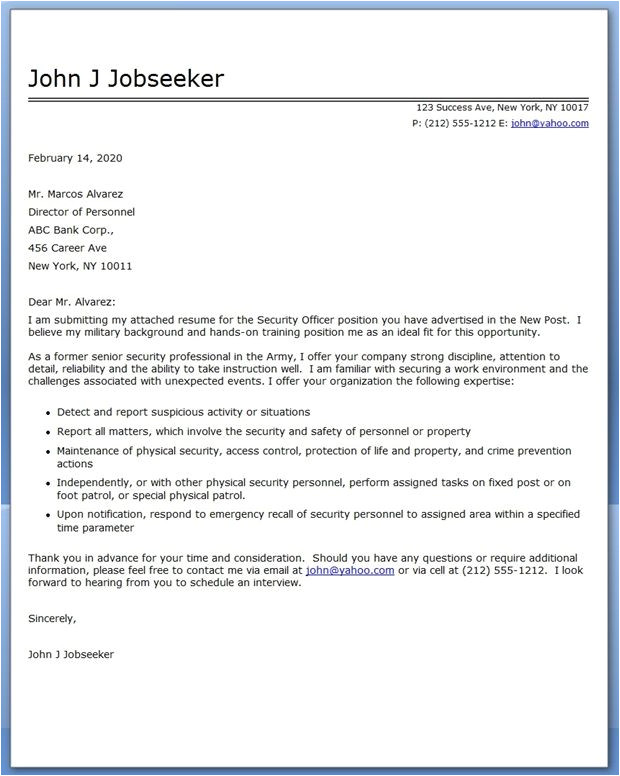 how to write a cover letter for an advertised job