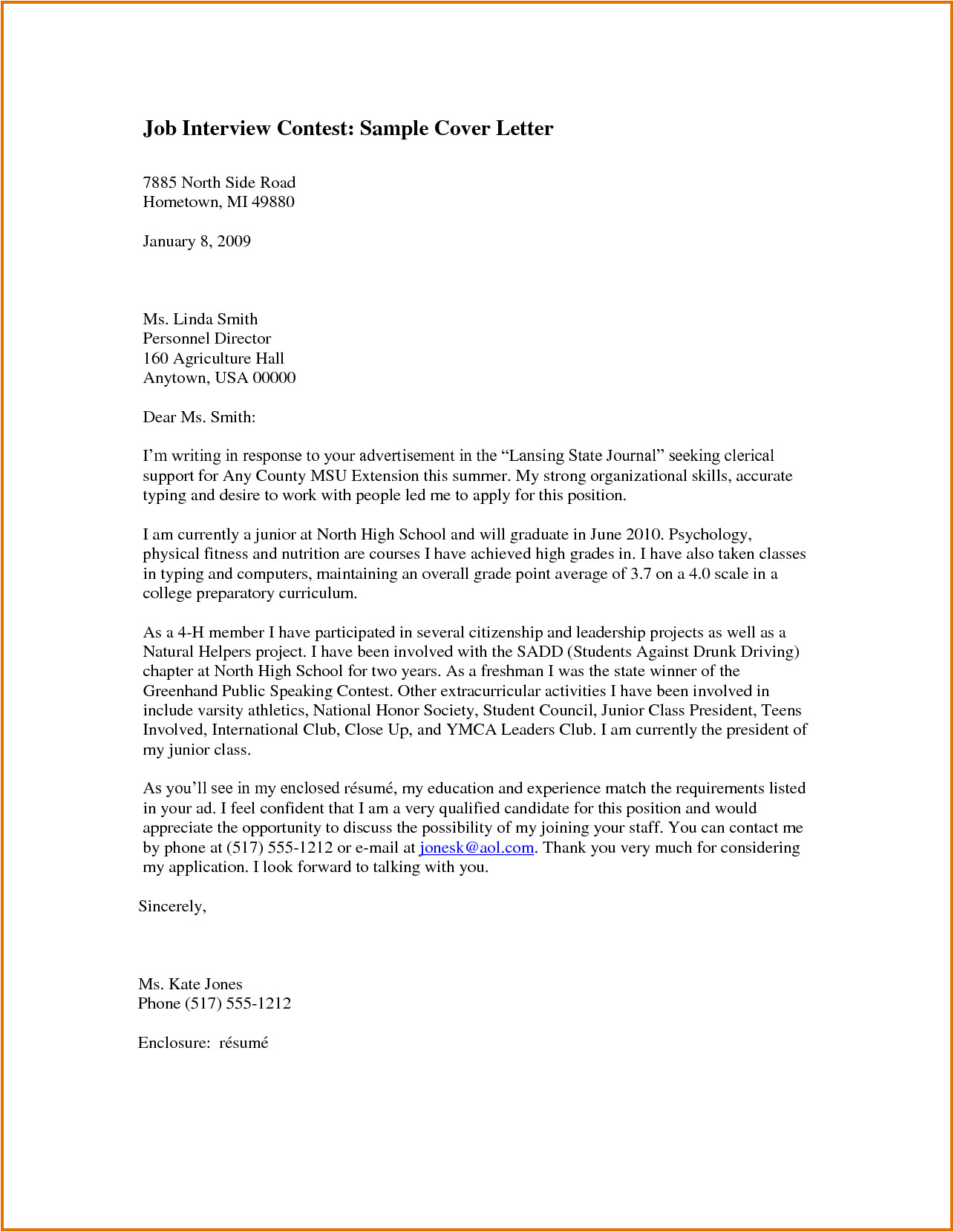 How to Write A Cover Letter for An Interview Job Interview Cover Letterreference Letters Words