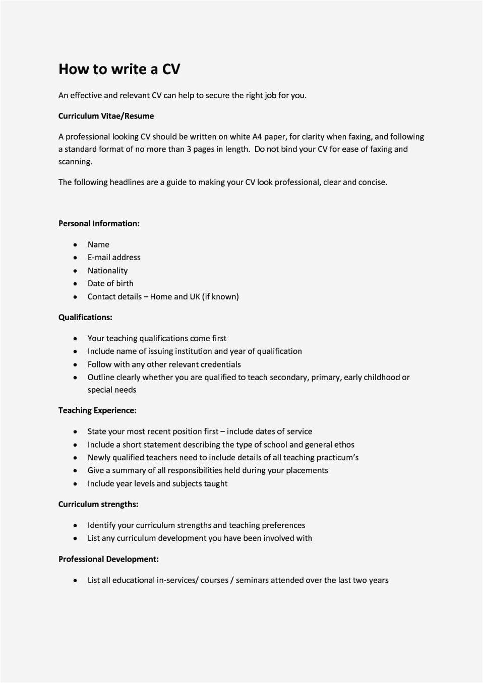 how to write a cv for a 16 year old with no experience uk