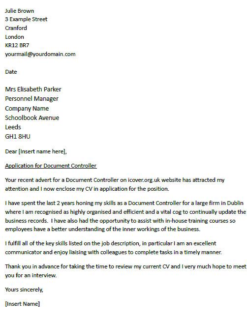 cover letter format uk