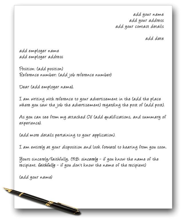 letter template uk 550
